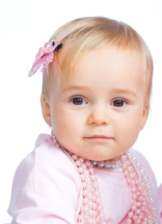 Portrait of an adorable baby girl photo