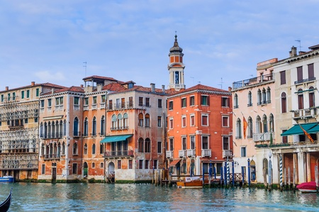 Romantic canal in center of Venice  photo