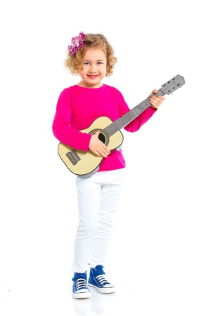 girl with guitar photo
