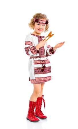Little girl in Ukrainian national costume photo
