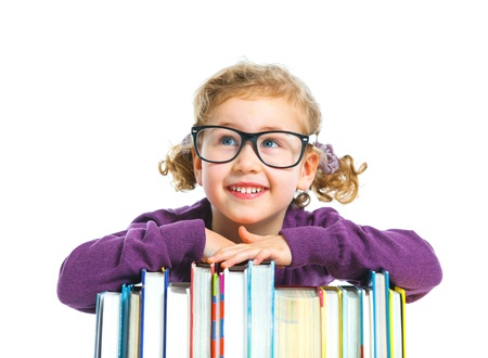 achiever: Education - funny girl with books