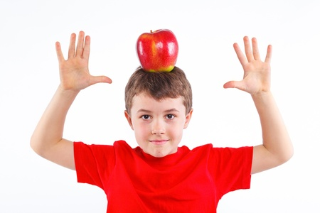 Little boy with apple Stock Photo - 13224939