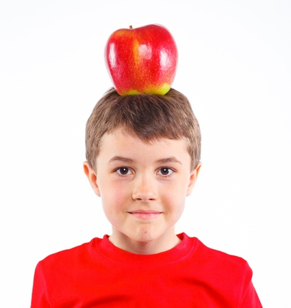 Little boy with apple  Stock Photo - 13224926