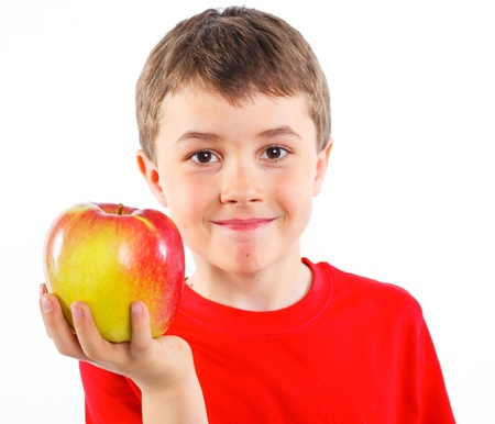 Little boy with apple Stock Photo - 13224927