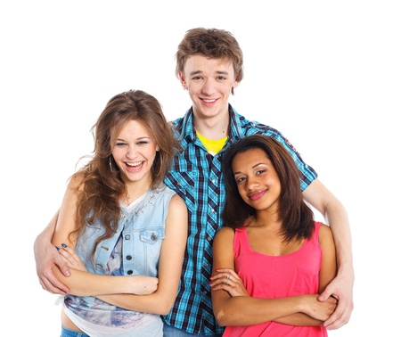 Three young teenagers Stock Photo - 13275272