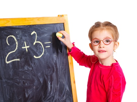Little girl draws on the board Stock Photo - 13275282
