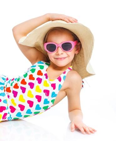 Meisje van het Strand Stockfoto
