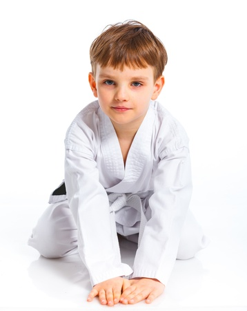 Aikido boy recreation position photo