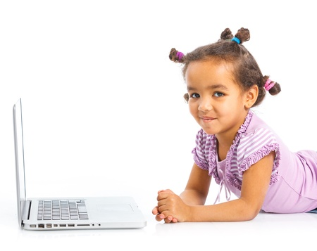 young girl using notebook computer Stock Photo - 13684668