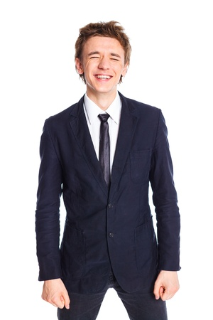 Teenage boy in a business suit Stock Photo - 13684687