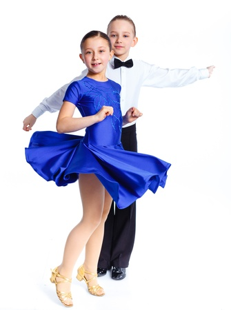 Young ballroom dancers photo