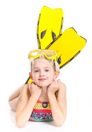 Diver girl photo