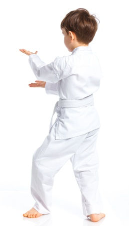 Ni�o de Aikido lucha posici�n photo