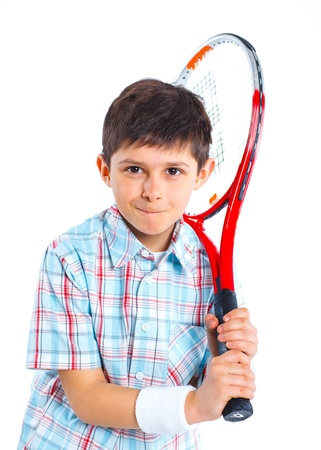 Young tennis player photo