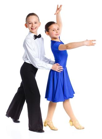 Young ballroom dancers photo