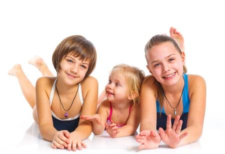 Three young beautiful girls Stock Photo - 13806395