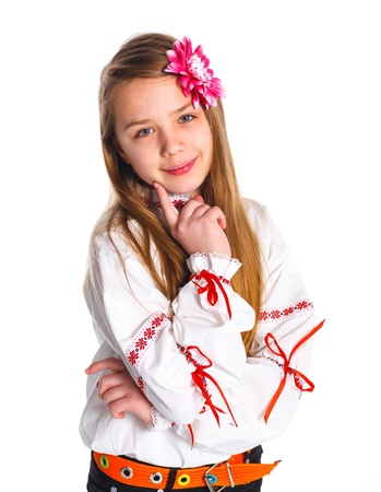 Cute fashionable girl Stock Photo - 13825585