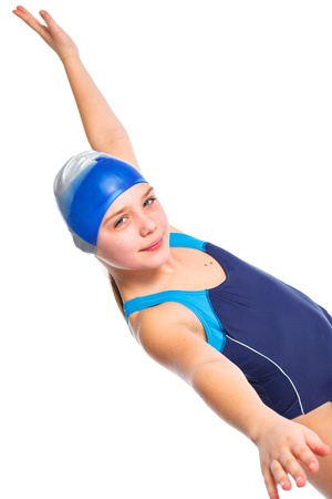 Young swimmer girl Stock Photo - 13825552