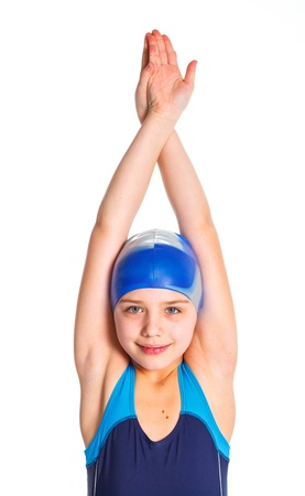 Young swimmer girl Stock Photo - 13825557