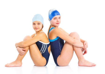 Young swimmer girls Stock Photo - 13825542