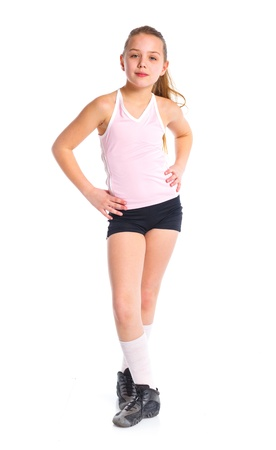 bare chest: Fitness Girl Stock Photo