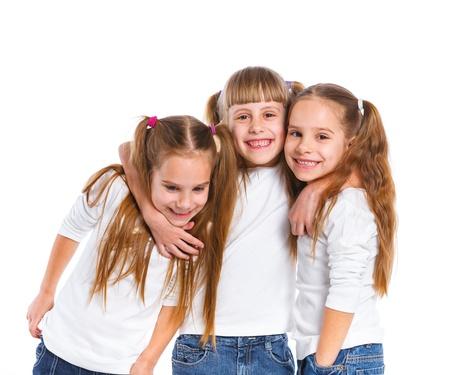 three year old: Three attractive girl