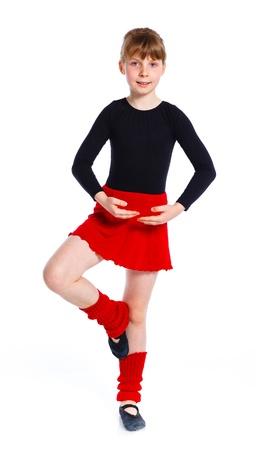 gymnastics girl: Girl the gymnast trainee Stock Photo