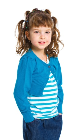 Young model in blue  photo