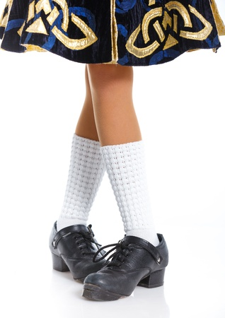 tap dance: Pair of irish dancing shoes Stock Photo