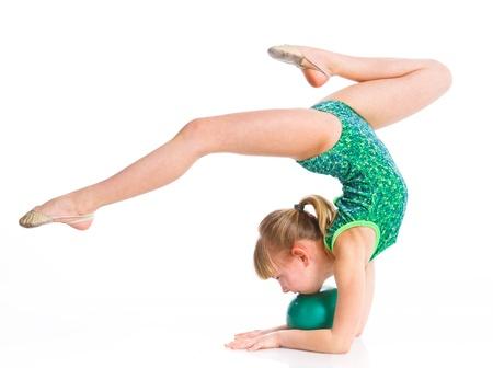 gimnasia: Peque�a gimnasta Foto de archivo