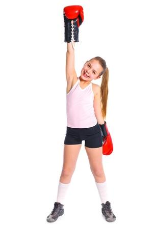 Beautiful boxer-fitness girl photo