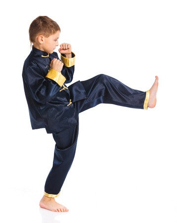 kung fu: Aikido boy fighting position