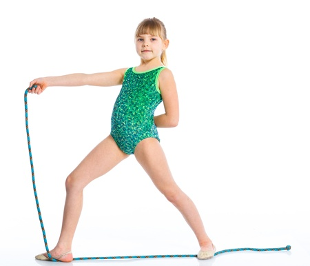Little gymnast Stock Photo - 14068955