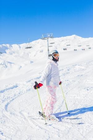 Young girl a ski wear photo