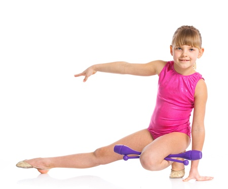 Little gymnast Stock Photo