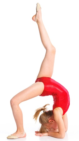female gymnast: Little gymnast Stock Photo