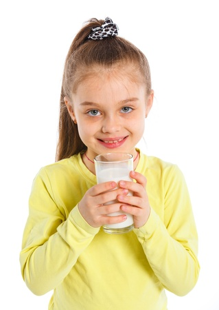 Girl with milk photo