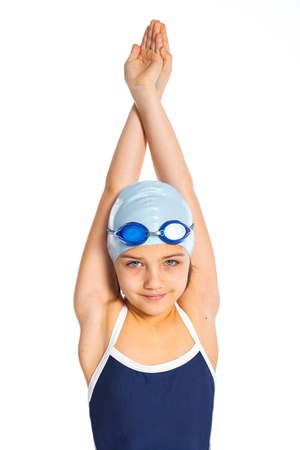 Young swimmer girl photo