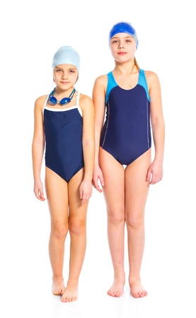 Young swimmer girls photo