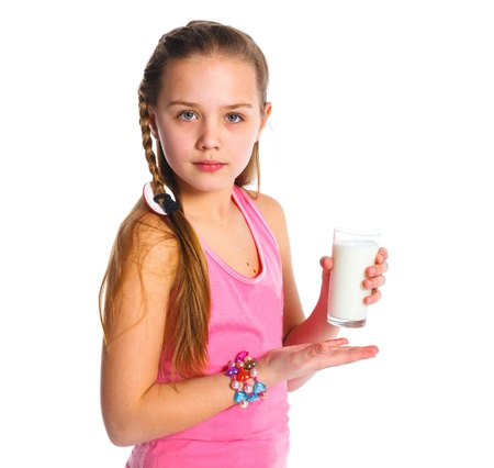 Girl with milk photo