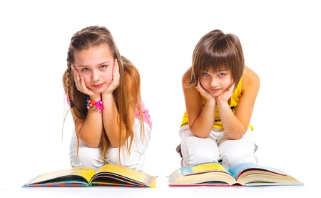 Funny girls with books  photo
