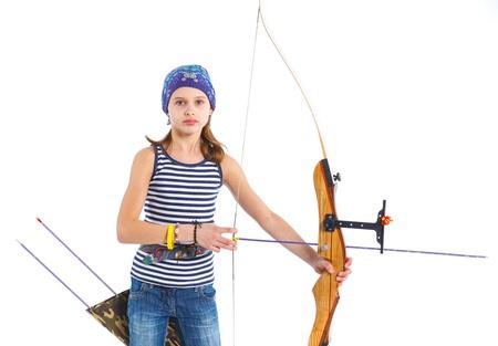 Teenage Girl Doing Archery photo