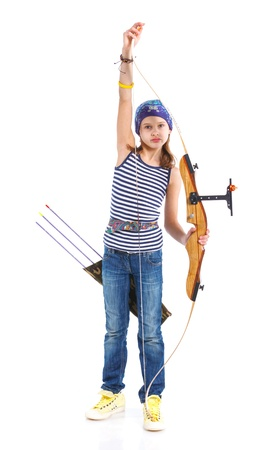 Teenage Girl Doing Archery photo