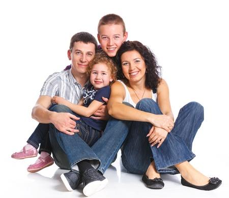 familia unida: Retrato de familia feliz