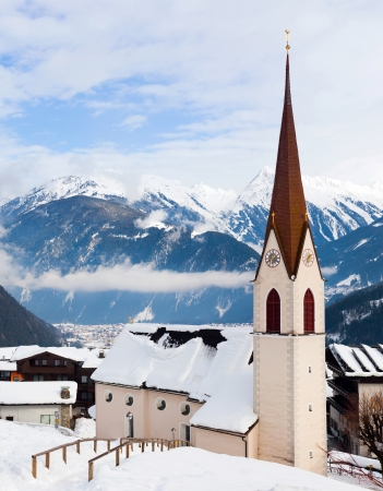 Church in the austrian alps photo