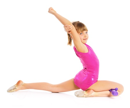 Little gymnast Stock Photo