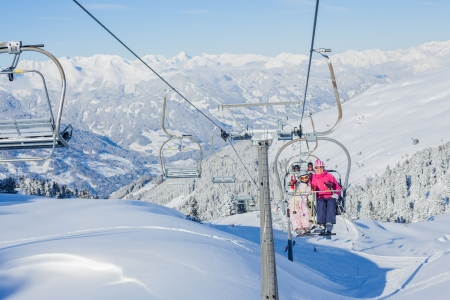 Skiing resort in Austria photo