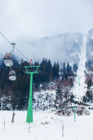 Ski lift chairs Stock Photo - 15734475