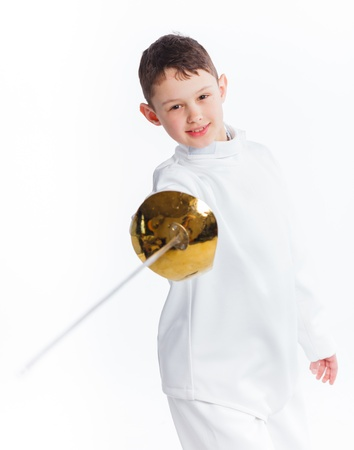 are thrust: Little fencer