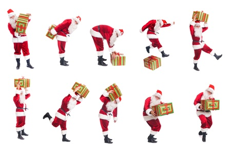 Happy Christmas Santa with gift  photo